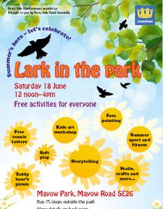 lark in the park poster 2